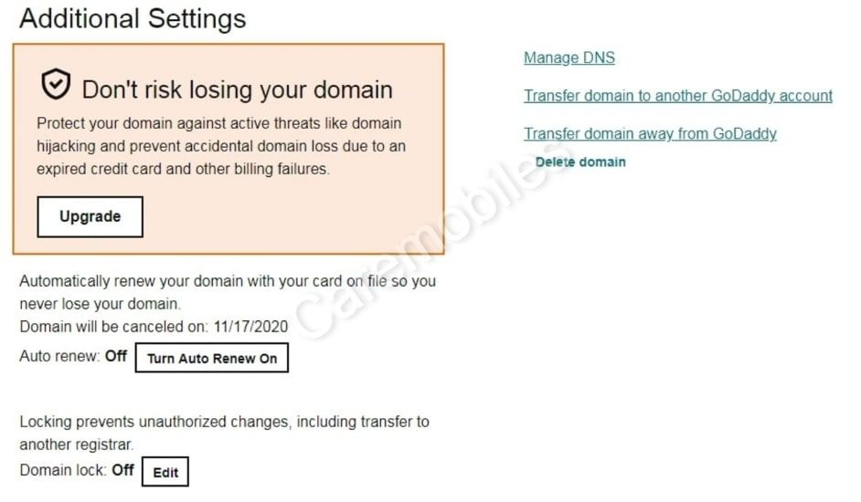 transfer domain from godaddy